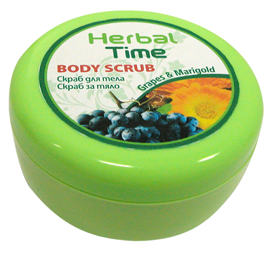 Body Scrub With Apricot Kernels, Grape Oil And Calendula Extract