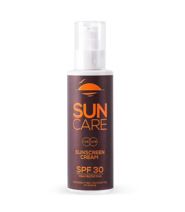 Sunscreen Cream SPF 30 with Cocoa Butter, Coconut Oil, Vitamin E
