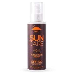 Sunscreen Cream SPF 50 with Cocoa Butter, Coconut Oil, Vitamin E