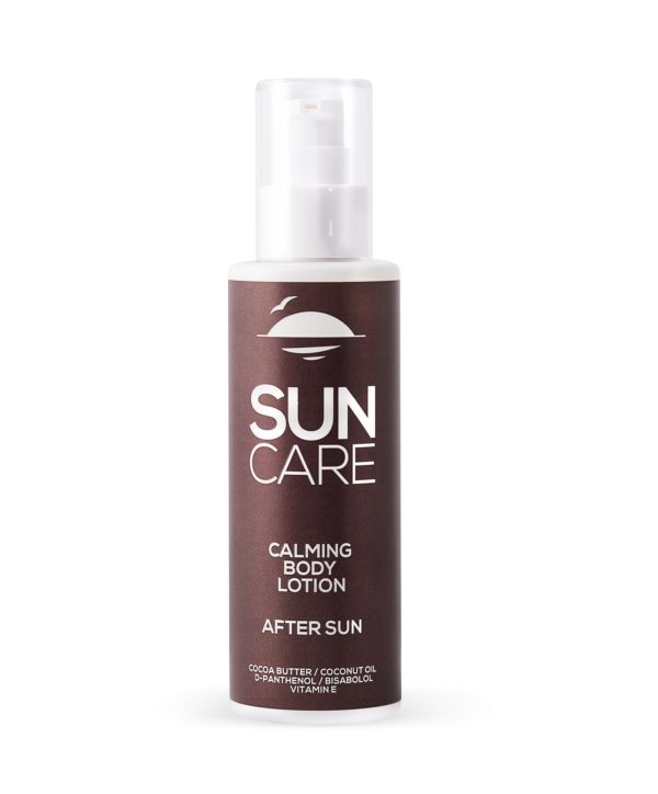 sun care calming body lotion after sun cocoa butter coconut oil d-panthenol bisabolol vitamin e